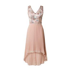 Chi Chi London Koktejlové šaty 'Yuna'  růžová / zelená