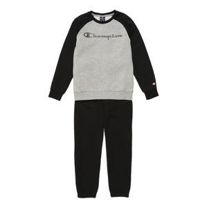 Champion Authentic Athletic Apparel Joggingová souprava  šedý melír / černá