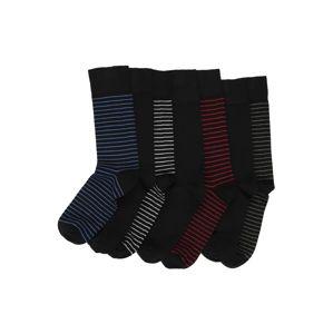 JBS OF DENMARK Ponožky 'Bamboo'  šedá / černá / červená třešeň / modrá