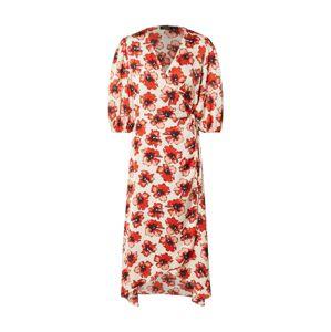 SOAKED IN LUXURY Šaty 'Isabeth'  černá / bílá / červená