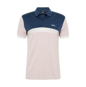 BOSS ATHLEISURE Tričko 'Paule 3'  růžová / modrá