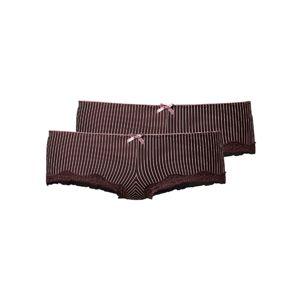 H.I.S Kalhotky  růžová / tmavě hnědá