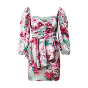 For Love & Lemons Koktejlové šaty 'ROBIN'  mátová / pink