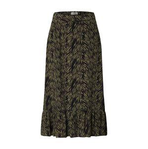 MOSS COPENHAGEN Sukně 'CALIE MOROCCO'  khaki / černá