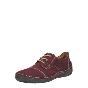 RIEKER Šněrovací boty  béžová / krvavě červená