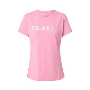 Calvin Klein Performance Funkční tričko  stříbrná / světle růžová
