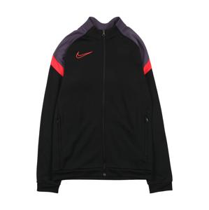 NIKE Sportovní mikina 'Academy'  černá / tmavě šedá / světle červená