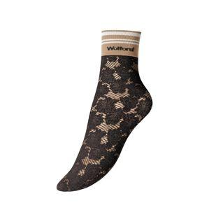 Wolford Ponožky 'Dakota'  černá / hnědá / bílá