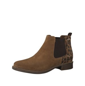 s.Oliver Chelsea boty  hnědá / čokoládová