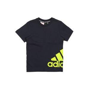 ADIDAS PERFORMANCE Funkční tričko  noční modrá / žlutá