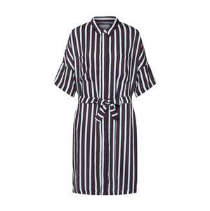 JUST FEMALE Košilové šaty 'Gabriel'  černá / bílá