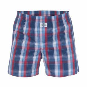 D.E.A.L International Boxerky 'Check'  modrá / červená