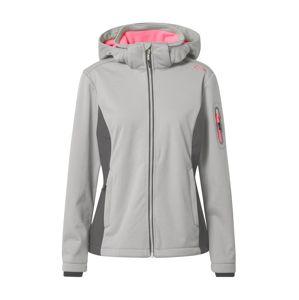 CMP Outdoorová bunda  pink / šedá / šedobéžová
