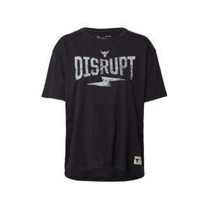 UNDER ARMOUR Funkční tričko 'Rock Disrupt'  černá / šedá