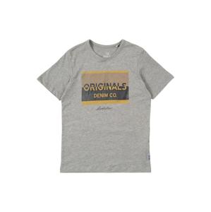 Jack & Jones Junior Tričko  šedá / žlutá / černá