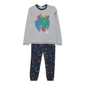 UNITED COLORS OF BENETTON Pyžamo  šedá / námořnická modř
