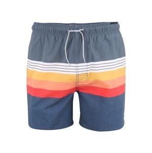 RIP CURL Plavecké šortky 'VOLLEY'  světle červená / námořnická modř / oranžová