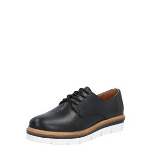 Bianco Šněrovací boty  černá / béžová / bílá