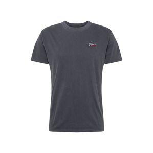 Tommy Jeans Tričko  bílá / červená / černý melír