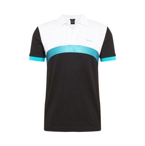 BOSS ATHLEISURE Tričko 'Paule 3'  černá / modrá / bílá