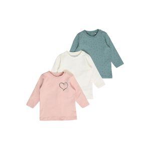 NAME IT Tričko 'Lotus'  pastelově zelená / růžová / béžová