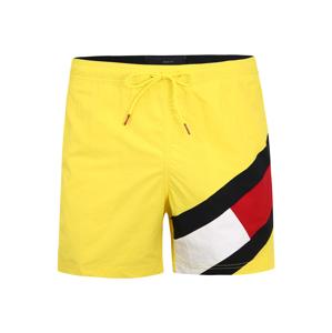 Tommy Hilfiger Underwear Plavecké šortky  svítivě žlutá / černá / bílá / červená