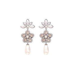 LILY AND ROSE Náušnice 'Aurora'  růžová / stříbrná / perlově bílá