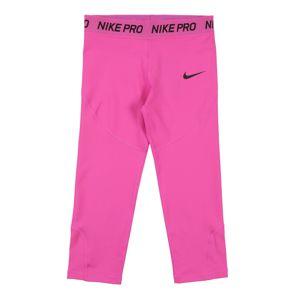 NIKE Sportovní kalhoty  černá / pink