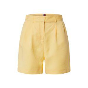 TOMMY HILFIGER Kalhoty se sklady v pase  žlutá