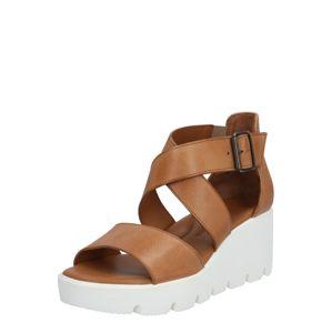 Paul Green Páskové sandály  karamelová