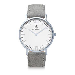 Kapten & Son Analogové hodinky  tmavě šedá / bílá
