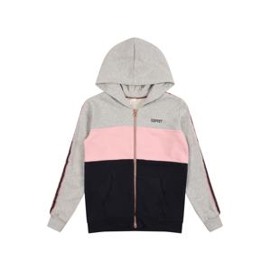 ESPRIT Mikina s kapucí  šedá / pink / námořnická modř