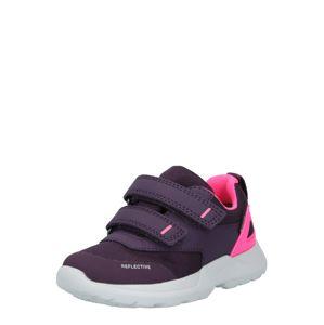 SUPERFIT Botičky pro první krůčky 'RUSH'  tmavě fialová / pink