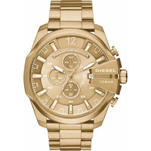 DIESEL Analogové hodinky 'MEGA CHIEF'  zlatá