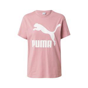 PUMA Tričko  růžová / bílá