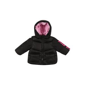 UNITED COLORS OF BENETTON Zimní bunda  černá / pink