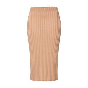 Boohoo Sukně 'Rib Midi Skirt'  tělová / meruňková