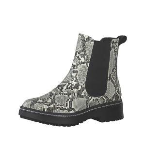 TAMARIS Chelsea boty  šedá / mix barev