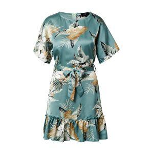 AX Paris Šaty  modrá / žlutá