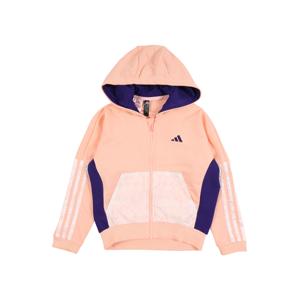 ADIDAS PERFORMANCE Sportovní mikina s kapucí  pink / bílá / bledě fialová