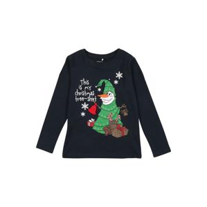 NAME IT Tričko 'OLAF'  tmavě modrá / zelená / červená / bílá / hnědá