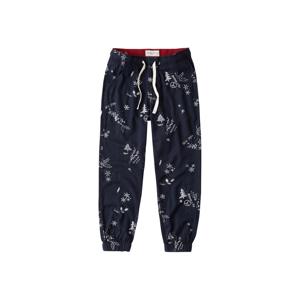 Abercrombie & Fitch Pyžamové kalhoty  námořnická modř / bílá