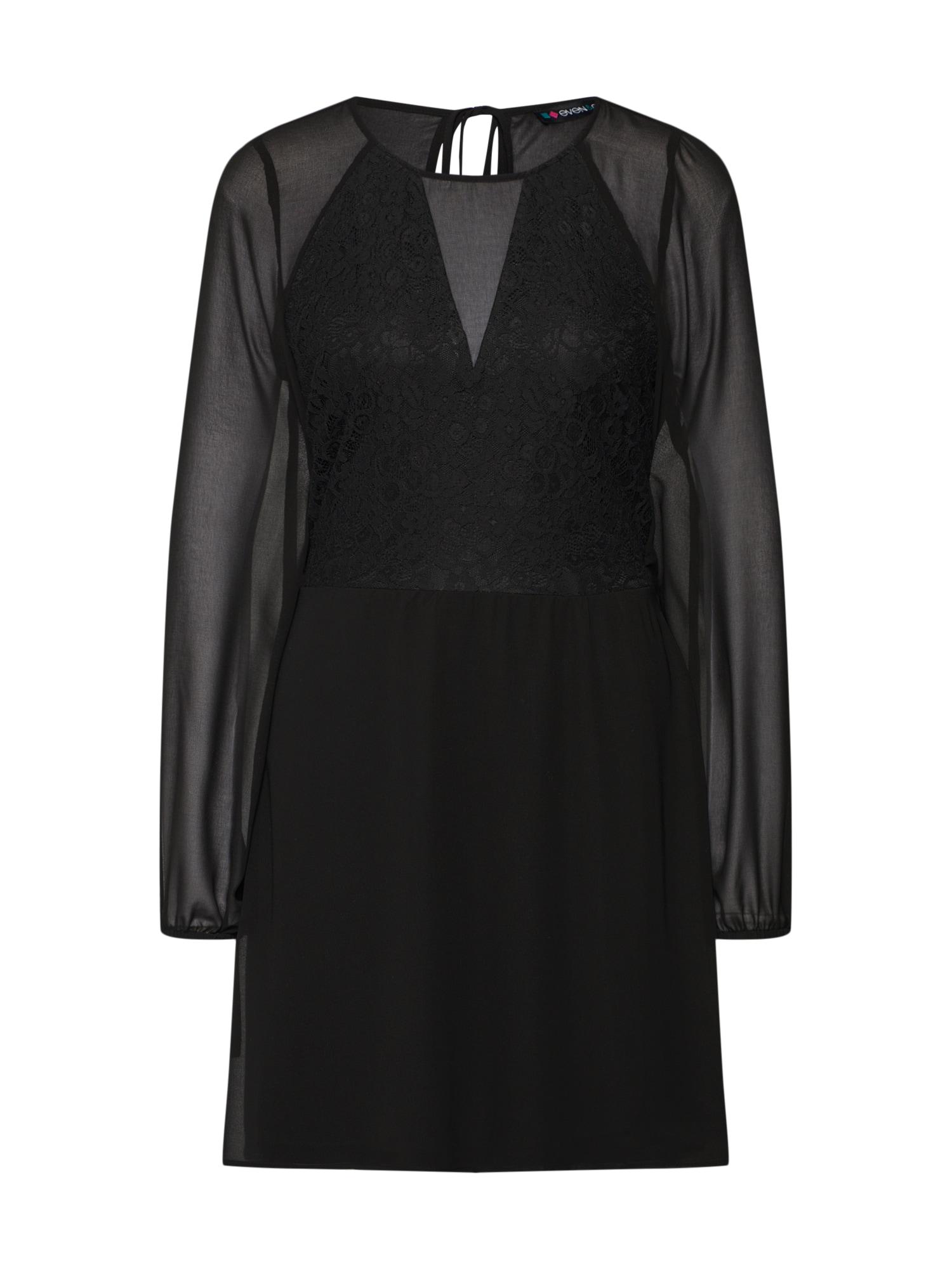even&odd Šaty  černá