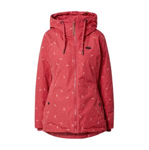 Alife and Kickin Zimní bunda 'Lilou'  pastelově červená / bílá