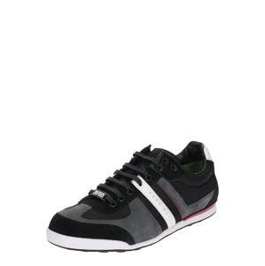BOSS Sportovní šněrovací boty 'Akeen'  tmavě šedá / černá