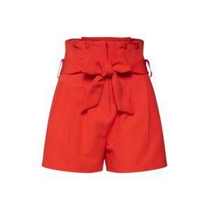 Lost Ink Kalhoty se sklady v pase  oranžově červená