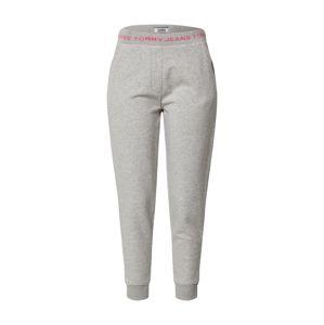 Tommy Jeans Kalhoty  světle šedá