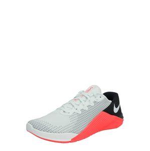 NIKE Sportovní boty 'METCON 5'  světle šedá / černá / pastelově oranžová