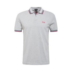 BOSS Tričko 'Paddy'  šedá / pink / námořnická modř