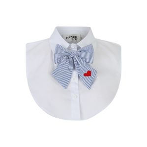 Pinned by K Límec 'Collar white with bowtie'  modrá / bílá